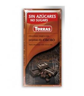 Torras Czekolada gorzka z ziarnami kakao b/c 75g