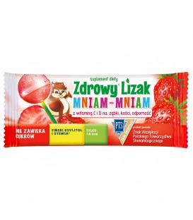 Mniam-Mniam Zdrowy Lizak truskawka 6g