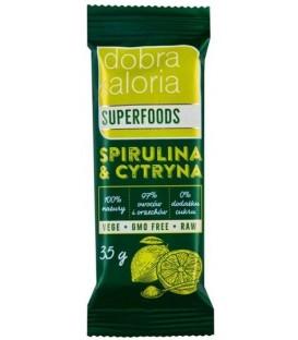 Kubara Baton Spirulina i Cytryna 35g