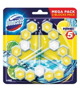 Domestos P5 Trio Lime 3x55g.