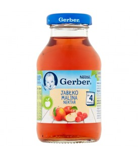 Gerber Sok z Jabłek i Malin 200ml