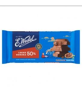 Czekolada Gorzka Lekko 50% Kakao 90g.Wedel
