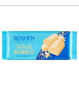 Czekolada biała z bąbelkami 80g Roshen