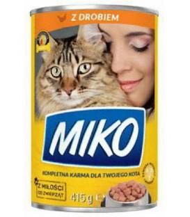 Karma dla kota puszka 415g z drobiem Miko
