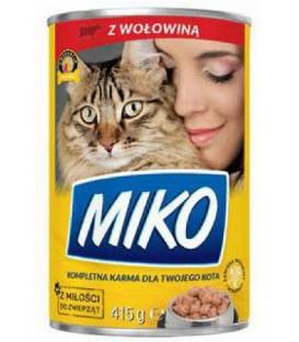 Karma dla kota puszka 415g z wołowiną Miko