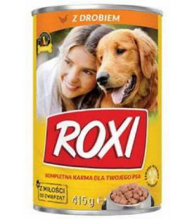Karma dla psa puszka 415g z drobiem Roxi