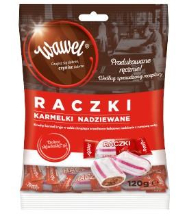 Wawel Karmelki nadziewane raczki 120 g