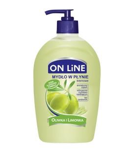 ON LINE Mydło w płynie z dozownikiem oliwka i limonka 500 ml