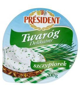 Président Delikatny Twaróg ze szczypiorkiem 200 g