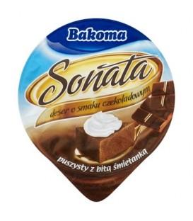 Bakoma Sonata Deser o smaku czekoladowym puszysty z bitą śmietanką 90 g