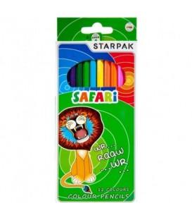 Kredki OLO 12 kolorów 180 STK Safari