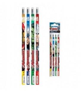 Disney Avengers ołówek z gumką 4szt